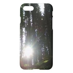 The sun in the forest iPhone 7 case - tap, personalize, buy right now! Iphone Case Covers, Sun, Stuff To Buy
