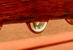 City view in a drop of water