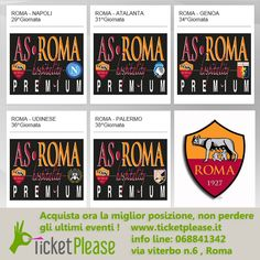 Acquista ora la miglior posizione, non perdere gli ultimi eventi !  biglietti: http://www.ticketplease.it/as-roma-ospitality-premium  info line: 068841342  via Viterbo n.6, Roma  #roma #asroma #totti #stadio #biglietti #ticket