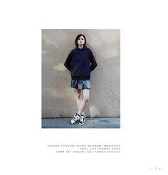 Proenza Schouler Hooded Neoprene Sweatshirt/ Sacai Luck Pleated Skirt/ Comme Des Garcons Play Canvas High-Top