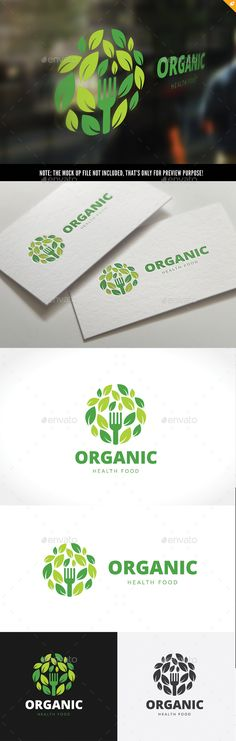 Organic Healthy Food Logo — Vector EPS #eco #environment • Available here → https://graphicriver.net/item/organic-healthy-food-logo/15896406?ref=pxcr