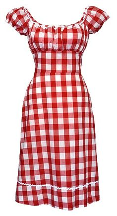 Red Checkered Dress ... Perfect for the 4th of July or a Picnic <3