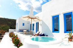 santorini, akrotiri, private villa, jacuzzi, relaxation, summer
