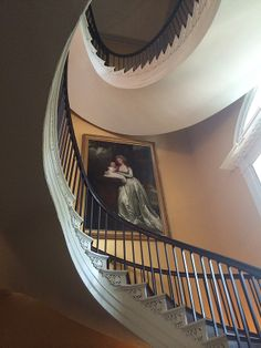 A grand spiral staircase in the Nathaniel Russell House, Charleston