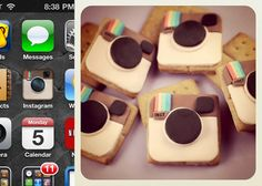 Holy moses! It's Insta-GRAHAMS. As in, real homemade graham crackers decorated to look like the instagram app icon! <3 it