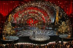 Derek McLane's Academy Award Stage Design for the Oscars 2016 | See more articles at http://www.delightfull.eu/en/news/