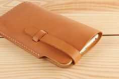 iPhone6PLUS leather sleeve TAN iphone6 case by miniMoreLeather