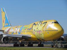 Pikachu Pokémon airplane