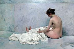 The Athenaeum - After Bathing (Joaquin Sorolla y Bastida - ) Figure Painting, Figure Drawing, Painting & Drawing, Tableaux Vivants, Lawrence Alma Tadema, Spanish Painters, Art History, Valencia, Oil On Canvas