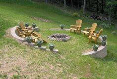 Sloped yard bonfire pit...