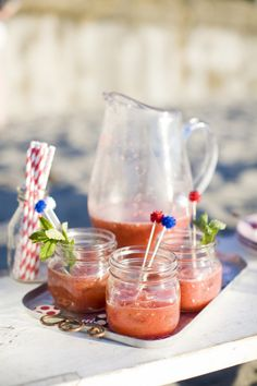Watermelon mojitos: http://www.stylemepretty.com/living/2014/07/01/15-recipes-for-the-4th-of-july/