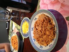 Angel hair pasta and chicken in pink sauce