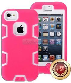 Amazon.com: myLife (TM) Bubblegum Pink + White 3 Layer (Hybrid Flex Gel) Grip Case for New Apple iPhone 5C Touch Phone (External Full Body D...