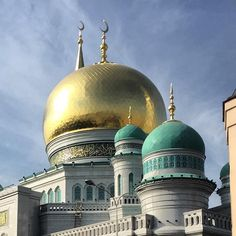 The largest #mosque in #Moscow - beautiful on this lovely sunny day!  #architecture #Russians #russia #москва #россия #мечеть