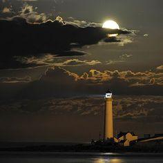 http://BlueChipMoney.com - #FullMoon Over #Lighthouse
