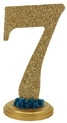 Glitter Number Stand - Click through for project instructions.