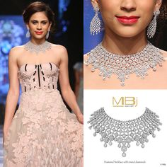 Diamond necklace with round shaped diamonds #MBj #Luxury #Desirable #Glamour…