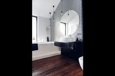 15 Apartment in Gdańsk//Formativ. Home Reno, Reno Ideas, Poland, Bathrooms, Black And White, Interior Design, Nest Design, Blanco Y Negro, Bathroom