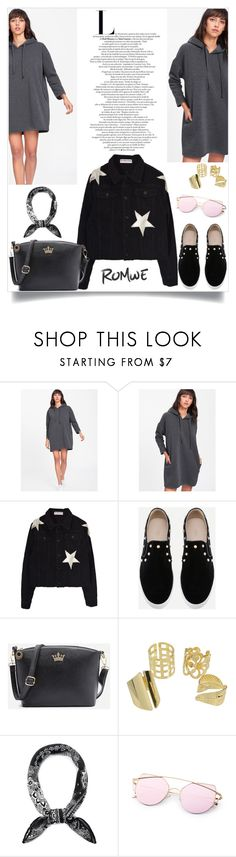 """Drawstring Hooded Sweatshirt Dress"" by manuel-s ❤ liked on Polyvore"