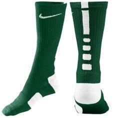Nike Elite Basketball Crew Socks - Men's - Basketball - Accessories - Gorge Green/White