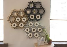 Small cardboard Ruche shelving perfectly fits spices jars, coffee mugs, toilet paper rolls, Stationary, little miniatures and toys and basica… Best Toilet Paper, Toilet Paper Storage, New Toilet, Storage Baskets, Storage Shelves, Shelving, Storage Jars, Kitchen Wall Shelves, Bathroom Shelves
