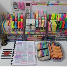 Our Earth Day Sale this weekend has finally started Get off everything with … – Bullet Journal Craft Closet Organization, Stationary Organization, School Organization, Stationary School, School Stationery, Cute Bedroom Ideas, Cute Room Decor, Study Room Decor, Cool School Supplies