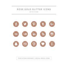 Rose Gold Glitter Ic