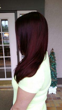 Merlot Red Hair (unfiltered) Matrix haircolor by Brianna Thomas