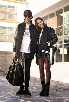Official Korean Fashion Blog Ulzzang Fashion, Asian Fashion, Daily Fashion, Fashion Online, Korean Image, Blog Online, Couple Outfits, Style And Grace, Asian Style