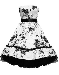 50s Style Dress, this dress combines my love of black and white and retro dresses!  LOVE IT!