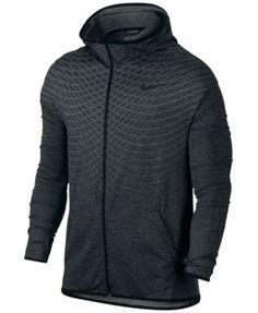 Nike Mens L Ultimate Dry Full Zip Black Gray Hoodie Jacket Large 742492 011  130 36eaa2224