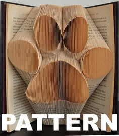 Book Folding Pattern  Large Paw Print  by BookFoldingAustralia