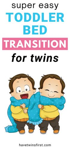 Transitioning toddlers from crib to bed can seem like a difficult task, but what about doing it with two toddlers? Learn everything you need to know to make the toddler bed transition easy for your twins. Toddler Nap, Toddler Learning, Twin Mom, Twin Babies, Toddler Bed Transition, Twins Schedule, Toddler Sleep Training, Expecting Twins, Raising Twins