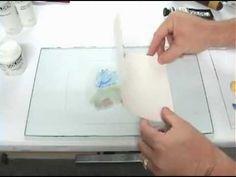 Het maken van een monotype met Golden Open Acrylics - YouTube