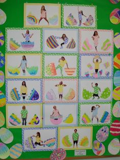 Sudio's Studio: Easter Bulletin Board such a great idea for hatching in spring but seems really hard bulletin board ideas for daycare easter crafts Easter Bulletin Boards, Preschool Bulletin Boards, Art Classroom, Easter Art, Hoppy Easter, Easter Crafts, April Preschool, Preschool Crafts, Easter Activities
