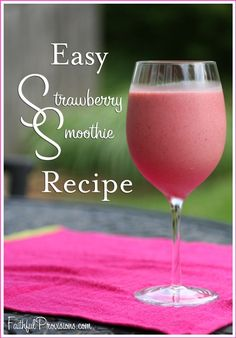 This easy strawberry smoothie recipe only has 3 ingredients, plus ideas for substitutions and leftovers!
