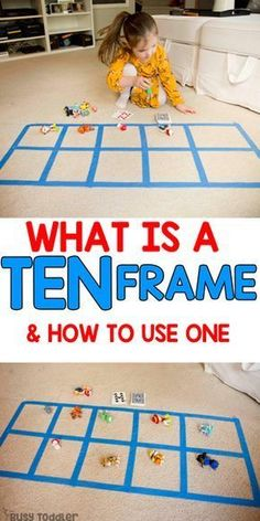 Ten Frame: What it is and Why it Matters Ten Frame Preschool Math Activity: preschool activity; math activity for preschoolers; quick and easy learning activity from Busy Toddler Ten Frame Activities, Preschool Learning Activities, Teaching Math, Toddler Activities, Kids Learning, Math Games For Preschoolers, Learning Numbers Preschool, Toddler Preschool, Number Sense Activities