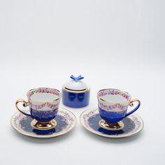 Turkish coffee cup Turkish Coffee Cups, Coffee Time, Tea Cups, Art Pieces, Tableware, Blue, Dinnerware, Artworks, Tablewares