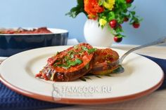 Кабачки и баклажаны, запеченные в духовке