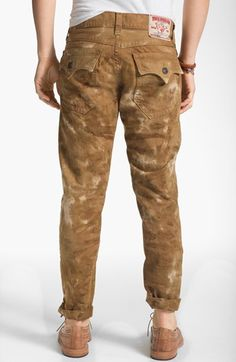 True Religion Brand Jeans 'Ricky' Straight Leg Jeans (Desert Sand) available at #Nordstrom