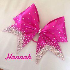 Hannah - Hand Sewn Fabric Cheer Bow by BlingItOnDesignsCA on Etsy https://www.etsy.com/listing/235002925/hannah-hand-sewn-fabric-cheer-bow