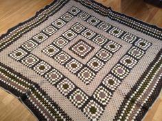 A crochet granny blanket for my mum My Granny, Crochet Granny, We Go Together, Yarn Shop, Back Home, Colours, Blanket, Together Lets, Crochet Pattern