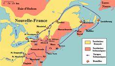 Une carte des emplacements de combat et le sens de déplacement des troupes…