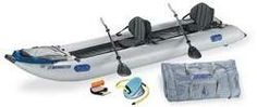Sea Eagle 435PS 14ft Inflatable Catamaran Kayak Incl Seats Oars + Pump