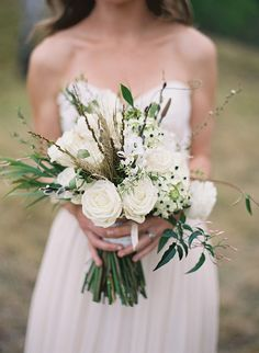 eclectic white bouquet