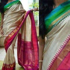 Poly Silk White Saree with Matching Color silk Blouse. It contained of Printed. The Blouse which can be customized up to bust size This Unstitch Saree Length mtr including mtr Blouse. Soft Silk Sarees, Ikkat Silk Sarees, Handloom Saree, Cotton Saree, Satin Saree, Kanchipuram Saree, Kurti, Lakshmi Sarees, White Saree