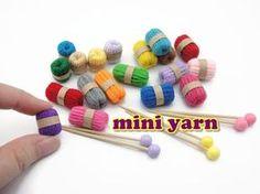DIY Doll Accessories Mini Yarn & Knitting Needles - Easy - YouTube