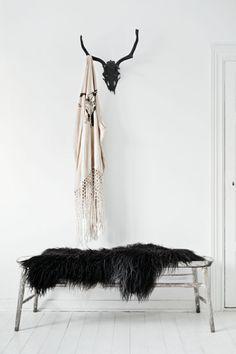 Black Sheepskin Throw | Remodelista