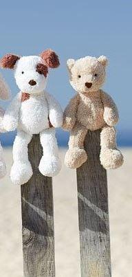 Little Jellycat Kuscheltier Sweet Pea Puppy Bär - 28 cm groß und schmuseweich... Bonuspunkte sammeln, auf Rechnung bestellen, DHL Blitzlieferung!