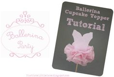 That Cute Little Cake: {Ballerina Party} Tutu cupcake topper TUTORIAL ! Made these for my daughter's ballerina party, and I must say they are adorable - thanks for the great idea! Ballerina Cakes, Ballerina Birthday, Girl Birthday, Ballerina Tutu, Ballet Cakes, Tutu Cupcakes, Pretty Cupcakes, Birthday Cupcakes, Moldes Para Baby Shower